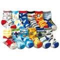 Бесплатная доставка (12 пар/лот) 100% хлопок Детские мальчики девочки носки резиновые скольжению пола носки мультфильм дети носки 1-3 лет