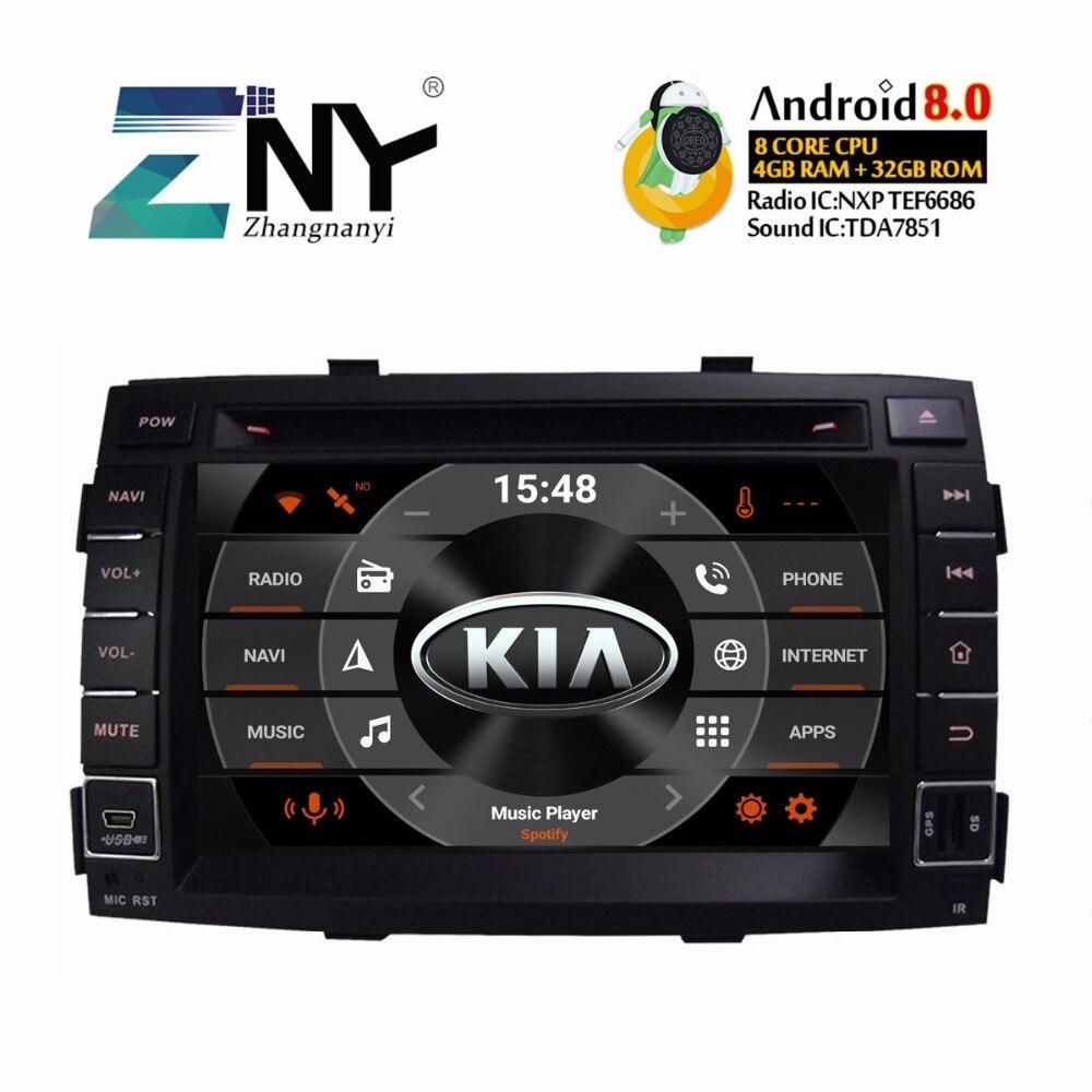 """7 """"ips Android 8,0 автомобильный DVD 2 Din авторадио для Kia Sorento 2012-2009 gps навигация мультимедийный видео плеер 4 + 32 ГБ Подарочная камера"""