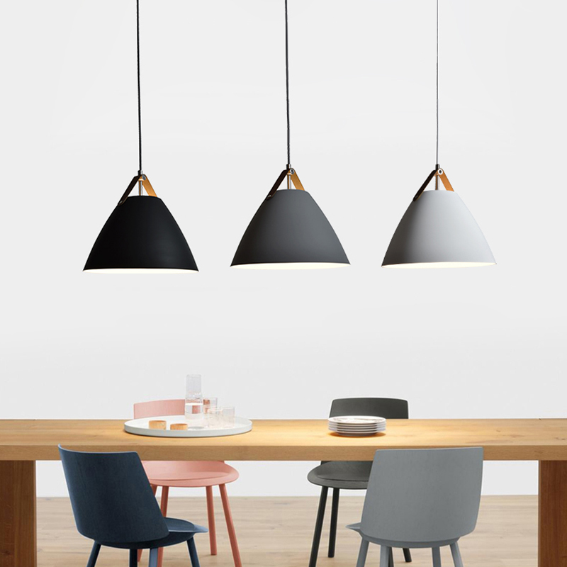 Nordic contracted droplight, E27 Aluminum Pendant Lights, Home restaurant decoration lighting lamps and lanterns contemporary and contracted restaurant droplight aluminum pendant lamp