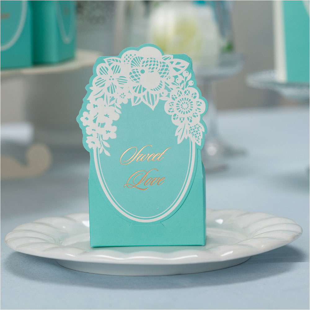c23e583913 aliexpresscom buy tiffany blue flower laser cut candy box fashionable  wedding favor bags 50pcslot marriage chocolate