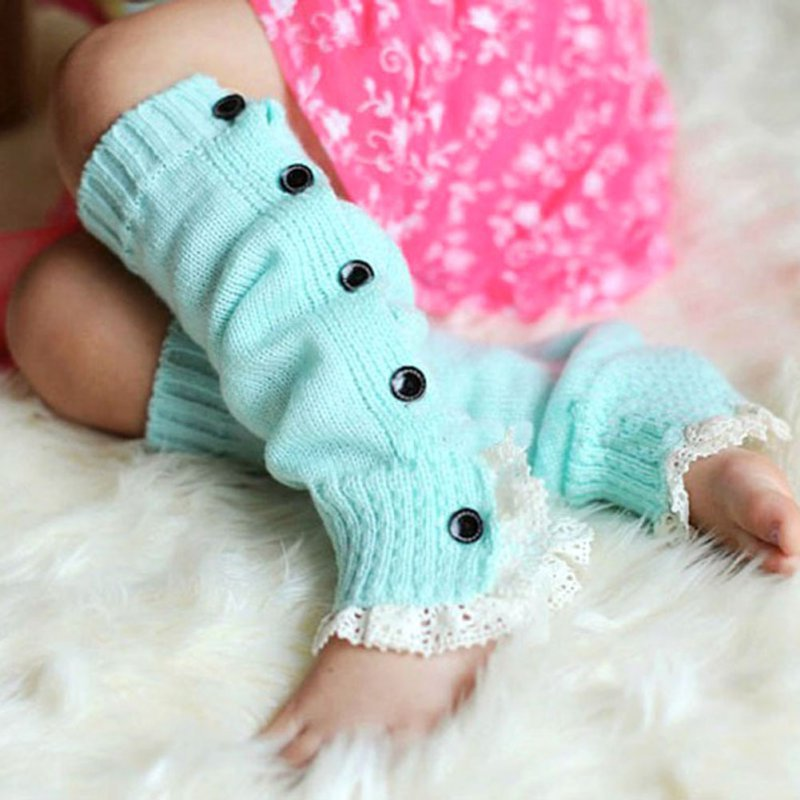 Lovely Baby Girls Winter Warm Tight Infant Kid Tight Toddler Crochet Lace Leg Warmers Boot Cover