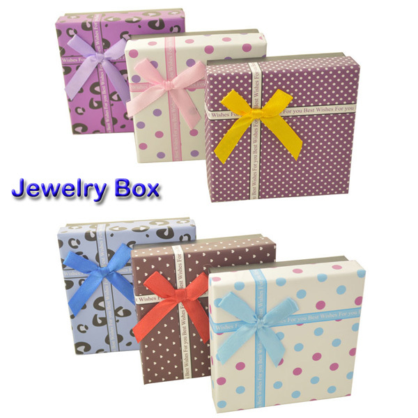New Style 6 Colors Dots Cross Gift Box for BraceletsCute Jewelry