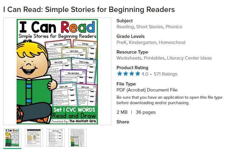I Can Read: Simple Stories for Beginning Readers learning English Reading,  Short Stories, Phonics Homeschool