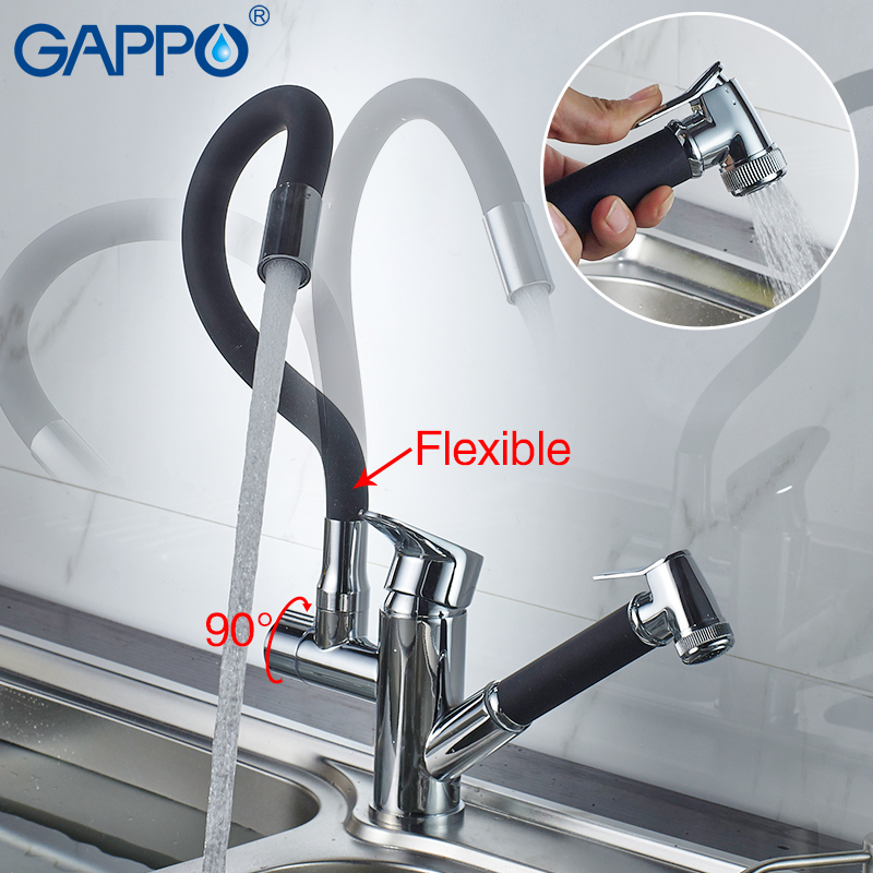 Gappo Kitchen Faucets Rotatable Kitchen Pull Out Water Mixer Faucets Flexible Kitchen Water Sink Faucets Mixer Tap