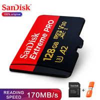 SanDisk Extreme Pro TF 64GB 128GB microSDXC UHS-I Speicher Karte micro SD Karte 32GB microSDHC TF 170 MB/s Class10 U3 Mit SD Adapter