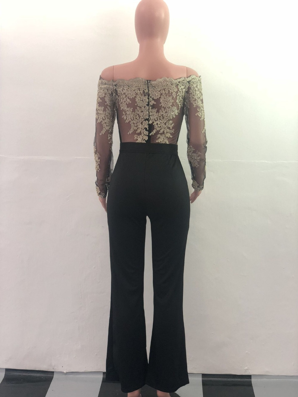 Appliques Lace Patchwork Jumpsuit for Women