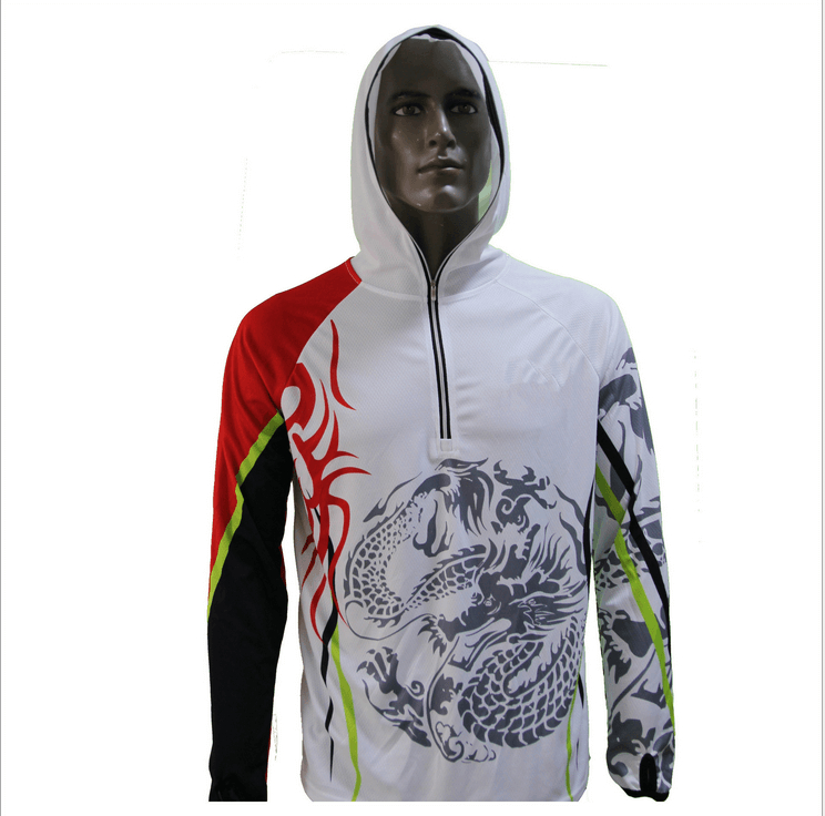 Fishing Shirt Quick Dry Breathable Hooded Sunproof Sunscreen Fisherman Clothing
