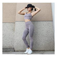 New autumn and winter yoga clothes womens running fitness tight breathable sports two-piece