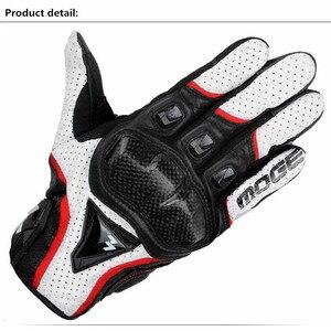 Летние кожаные перчатки для мотогонок, дышащие мужские перчатки из углеродного волокна для мотокросса, для самоката