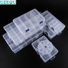 Transparent Plastic Storage Boxes Clear Square Multipurpose Display Case Plastic Jewelry Cosmetics Storage Box Desktop Organizer