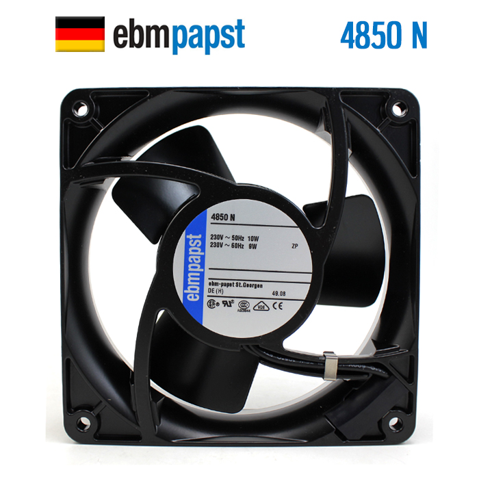 NEW ebmpapst PAPST 4850N 12038 230V 10/9W metal silence low rotating speed cooling fan original ebmpapst w2g107 ad03 13 12cm 12038 24v3 3w full metal cooling fan