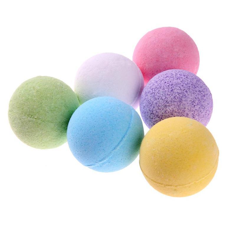 1pc Deep Sea Bath Salt Body Essential Oil Bath Ball Natural Bubble Bath Bombs Ball Rose/Green Tea/Lavender/Lemon/Milk Random