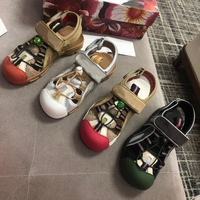 Closed Round Toe Women Casual Shoes Flat Sandals Summer Unsix Sandals Men's Fashion Shoes Air Mesh New Hook Loop Female Sandals