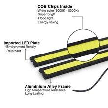 LED Car DRL Driving lamp Ultra Bright super led 5W 17cm 6000k Daytime Running light Waterproof COB Day time Lights