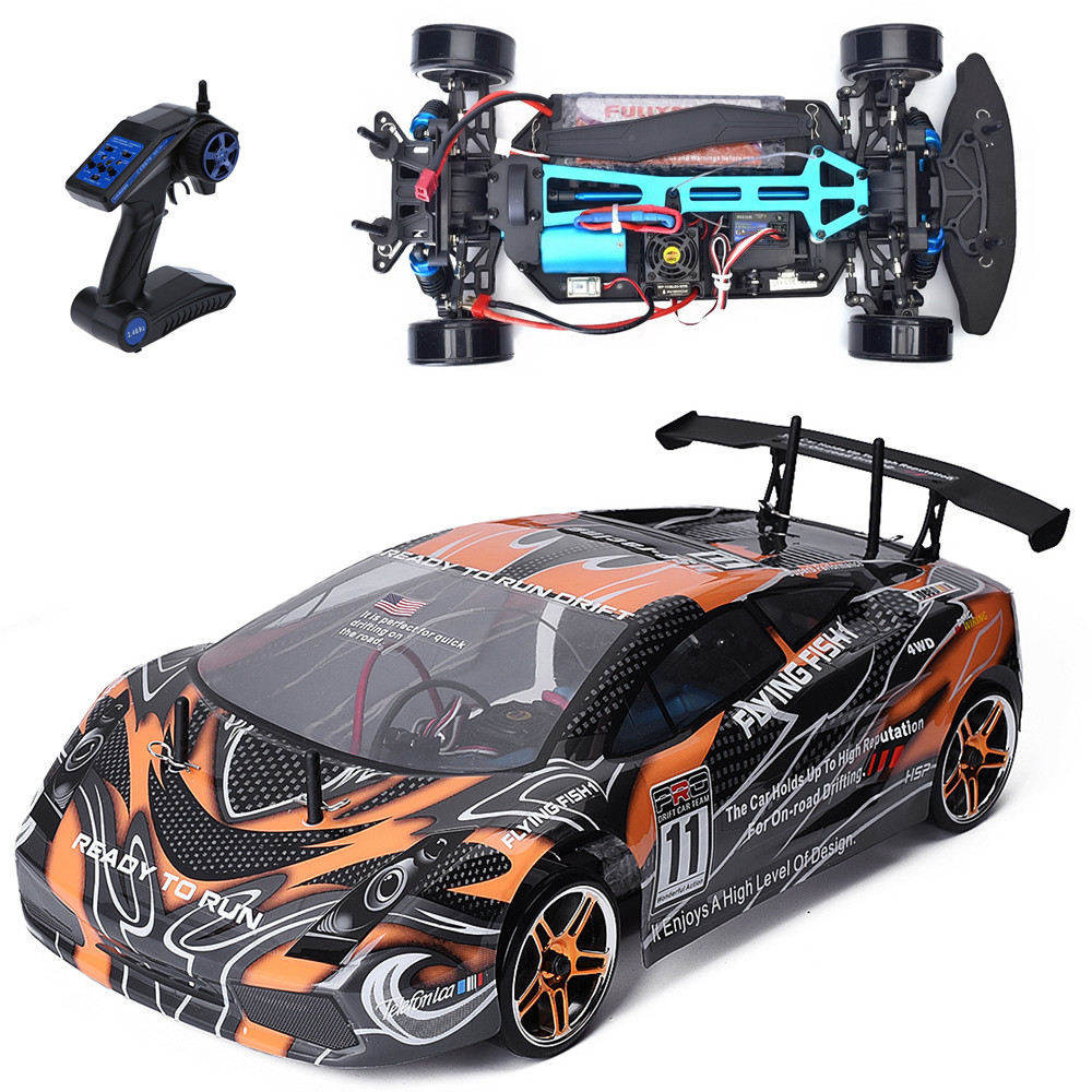 HSP Rc Car 1/10 Scale Models 4wd Electric Power Brushless On Road Racing Drift Car 94123PRO High Speed Hobby Remote Control Car 02023 clutch bell double gears 19t 24t for rc hsp 1 10th 4wd on road off road car truck silver