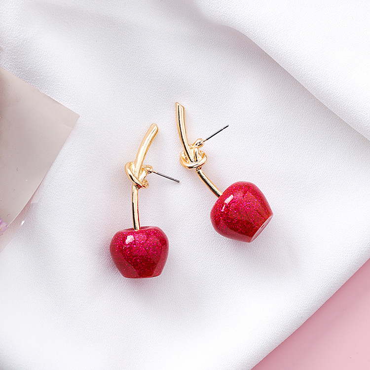 Cute/romantic Round Women Dangle Earrings Sweet Cherry Cherry Earrings Earrings For Women Drops Earrings 11