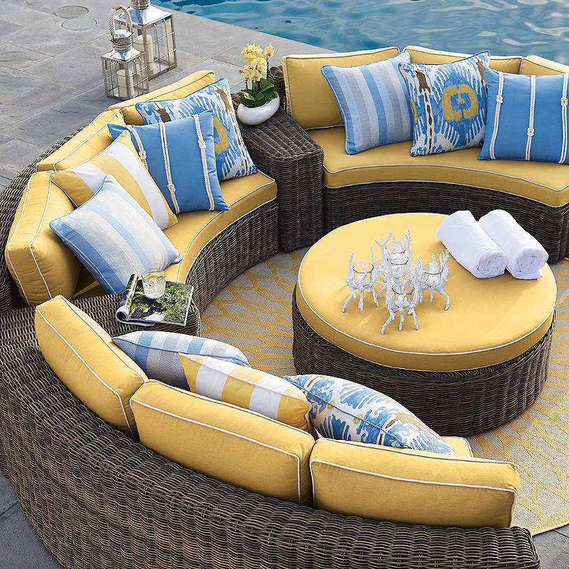 Sigma deep seating outdoor classic wicker sectional royal ...