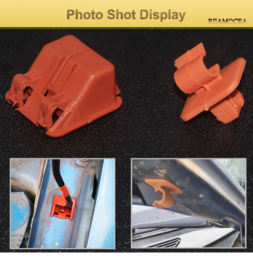 Reamocea 1U0823570A Orange Plastic Car Roomster Hood Bonnet Rod Stay Bracket Buckle Clip For Skoda Fabia Octavia MK2 2004-2013 (14)