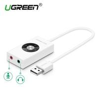 External USB Sound Card 5 1 Ugreen Stereo USB Sound Card Mic Speaker Audio Jack 3
