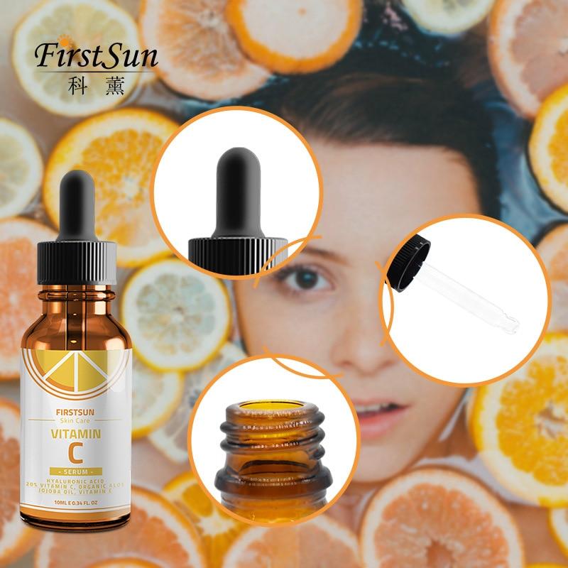 Firstsun Vitamin C Hyaluronic Acid Face Serum Anti Aging Fade Dark Spot Wrinkle Hydrating Skin Serum Skin Care Essence TSLM1