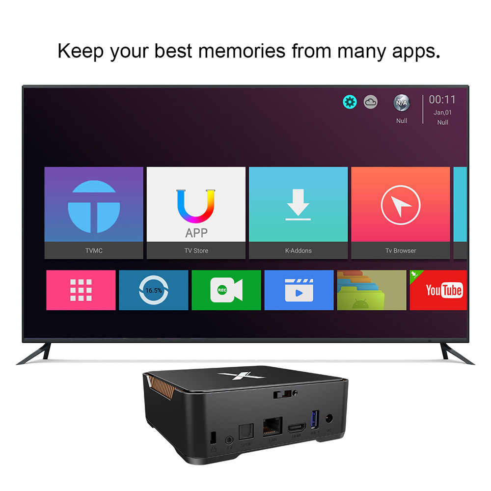 A95X MAX Android 8 1 TV Box 4GB 64GB Amlogic S905X2 Smart Set top Box  Support PVR Video Recording 2 4G&5GHz Wifi BT4 2 1000M 4K