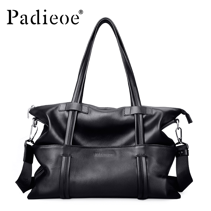 Padieoeo Brand Large Capacity Briefcase Men Shoulder Bags Genuine Leather  Handbag Messenger Bag Men's Cowhide Travel Tote Bag 8ch ahd dvr tvi cvi nvr ip 5 in 1 cctv 8channel 1080n hdmi security video recorder 1080p for cctv cameras