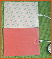 300X300mm 1000W 240V, Custom Designed Flexible Silicone Heater/Heating/Thermal Mat/Pad/Blanket 3M adhesive backing electric pad