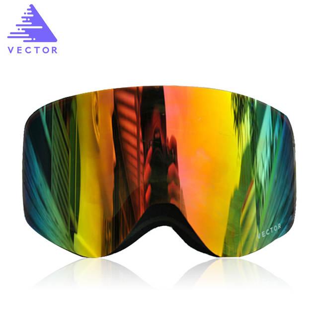 39d114102f6 VECTOR Brand Professional Ski Goggles Men Women Anti-fog 2 Lens UV400 Adult  Winter Skiing