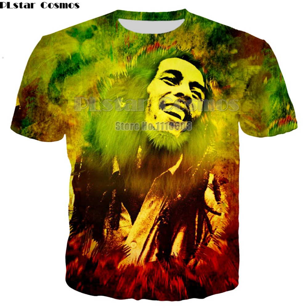 Newest summer Fashion new Hip hop T-shirts Reggae originator Bob Marley 3d print Men Women casual O-Neck t shirt top 7XL