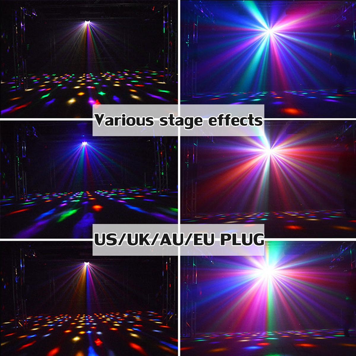 13 W led projecteur laser Disco Lumière Sonore À Distance Controll Lumière RGB DJ Party éclairage de scène Musique Support USB/SD bluetooth sans fil