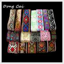 10 yards/lot embroidered webbing DIY handmade garment sewing accessories lace ribbon clothing decorating accessory