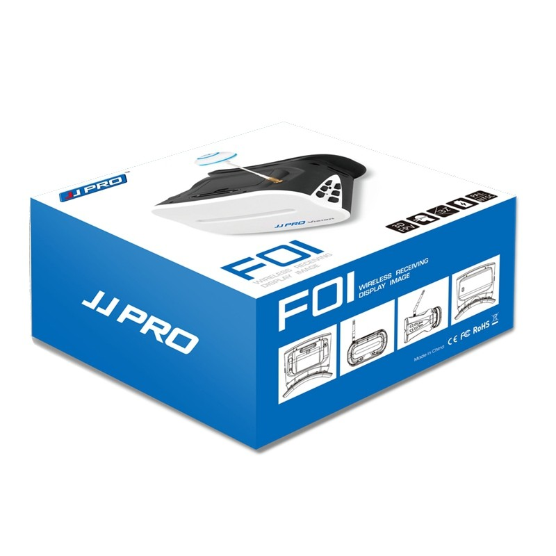 jjpro f02 vr video glasses 5 8g 64ch 4 3 inch fpv goggles for h8d h11d h6d drone airplanes spare parts JJPRO F01 64CH 5.8G Full Band 640X480 WVGA 5 Inch FPV Goggles VR Headset with Battery For JJRC H6D H8D H11D JJPRO P175 P200
