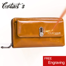 New Fashion Genuine Leather Wallet Women Zipper Money Bag Long Clutch Womens Purse Coin Card Holders Wallets Large Capacity