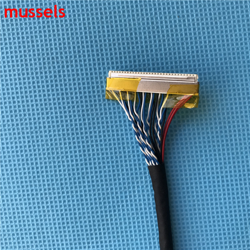 For LCD Controller Panel Double 8 bits Interface Wire FIX-D8 30pin LVDS Cable Free Shipping 10 pieces / lot