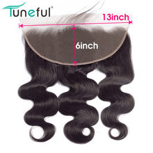13x6 Lace Frontal Closure Body Wave Pre Plucked With Baby Hair 100% Brazilian Remy Human Hair FedEx/DHL Express Free Shipping(China)