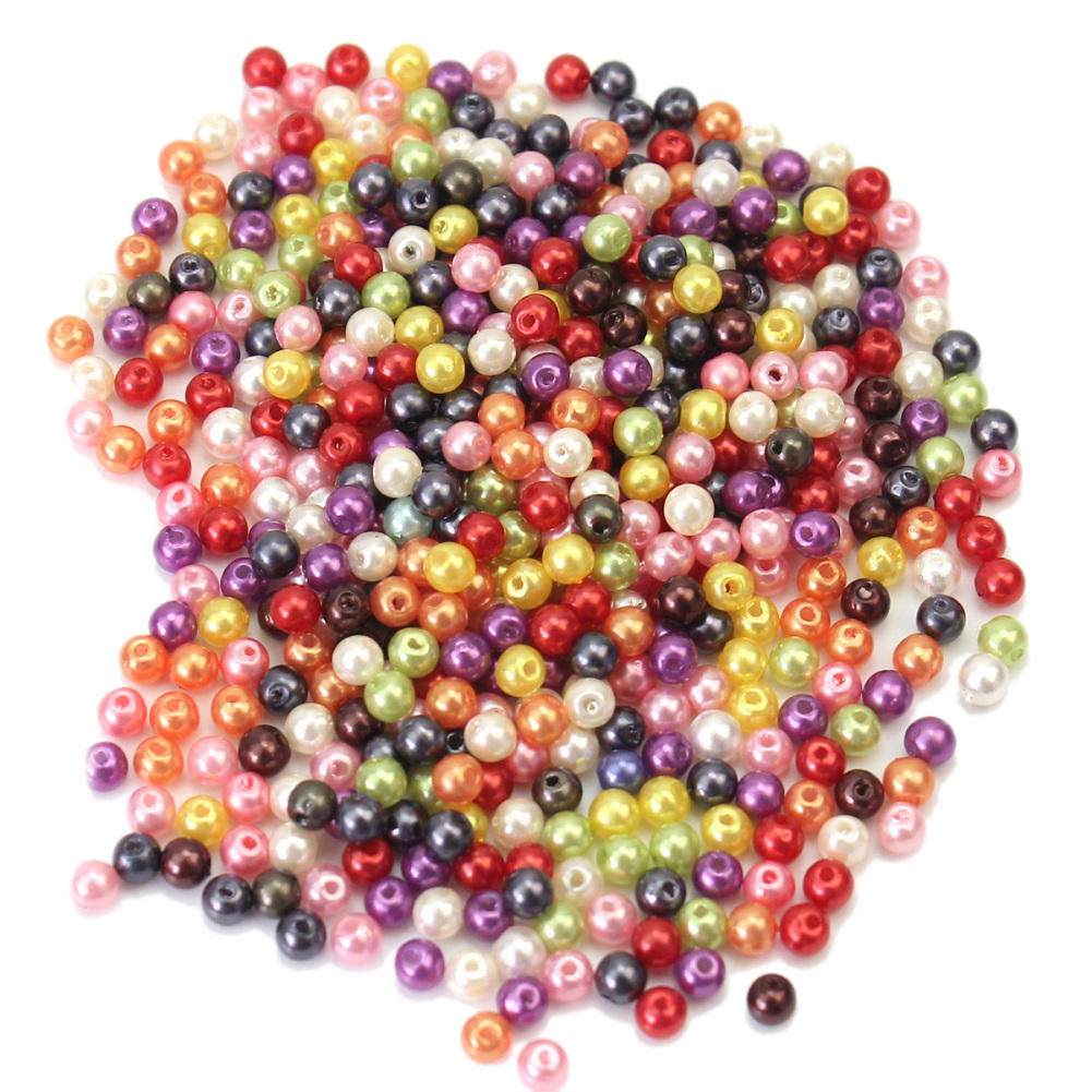 500pcs/Lot Multi Color Glass Beads Cheap Round Shape Imitation Beads Handmade DIY Bracelet Jewelry Accessories Making Wholesale