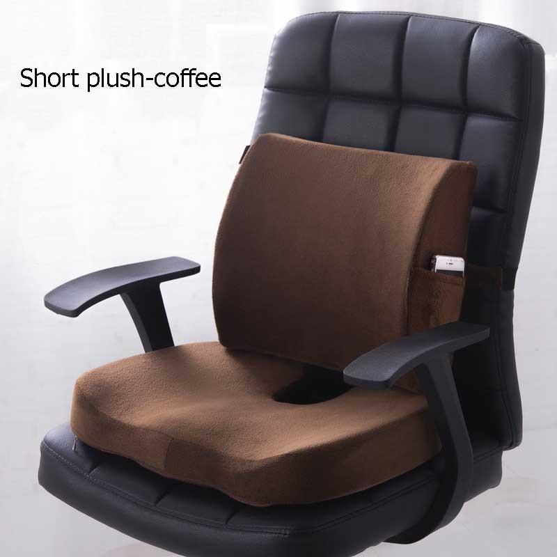 HTB1LXXsXoGF3KVjSZFmq6zqPXXar Car Seat Cushion Coccyx Orthopedic Memory Foam Seat Massage Chair Back Cushion Pad Office Massage Cushion
