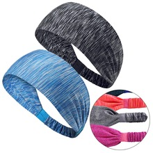 2018 Women Girls Wide Yoga Sports Headband bandeau cheveux femme Knotted Turban Head Warp Hair Band Elastic Headband Sport Yoga elastic lacework wide sport headband