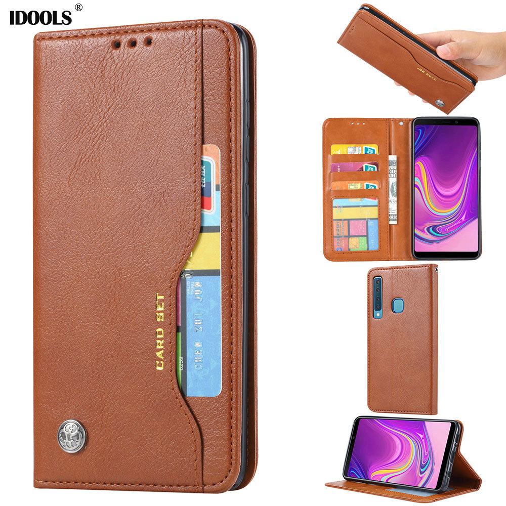 IDOOLS Cover Case For Samsung galaxy A9 2018 PU Leather Dirt-resistant Wallet Flip Cases For Samsung galaxy A9 2018 Coque Fundas