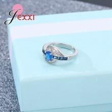 Jemmin Real Blue Austrian Crystal Fashion Rings