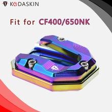 KODASKIN Motorcycle CNC Aluminum Side Stand Enlarge for CFMOTO 400 650NK