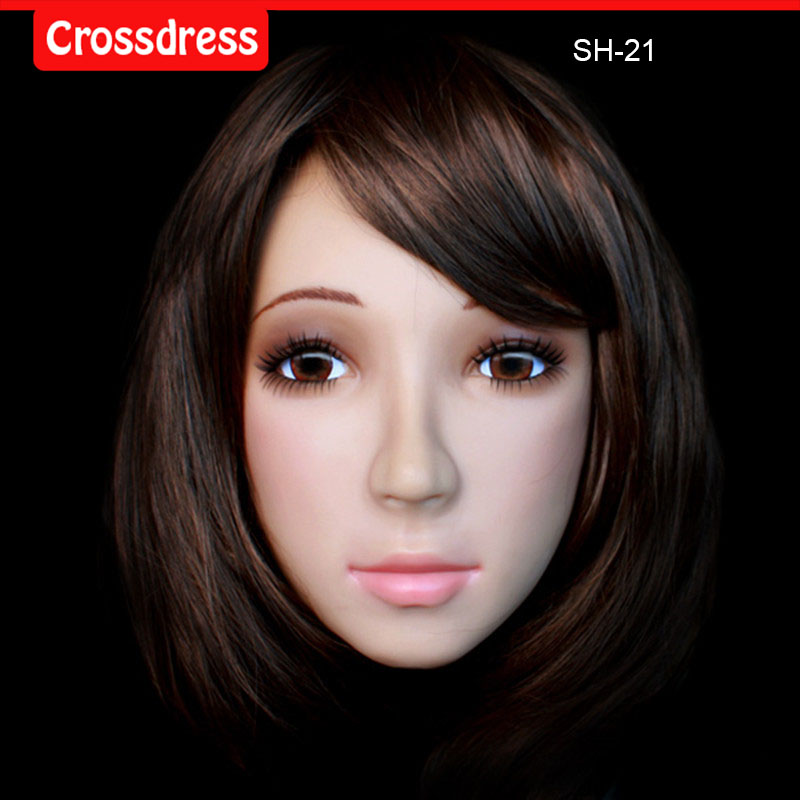 где купить NEW! SH-19 Top quality silicone female masks crossdresser, human face mask по лучшей цене