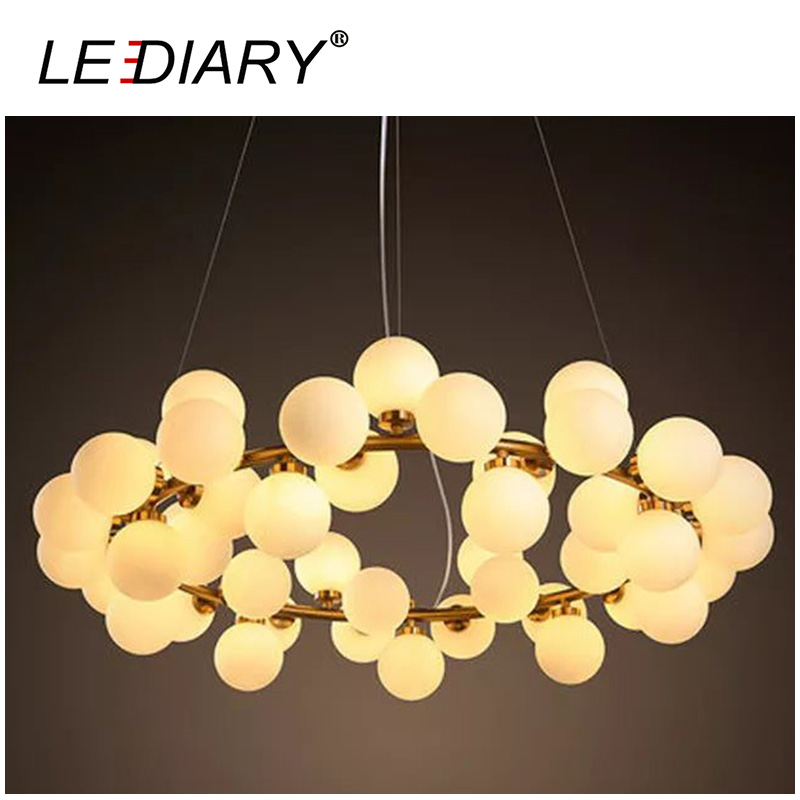 LEDIARY DNA LED Chandelier Lights Modern Pendant Lamp Ball Shape Hang Lamps Molecule 3 9 15 16 25 45 Heads Pastoralism G4 Socket