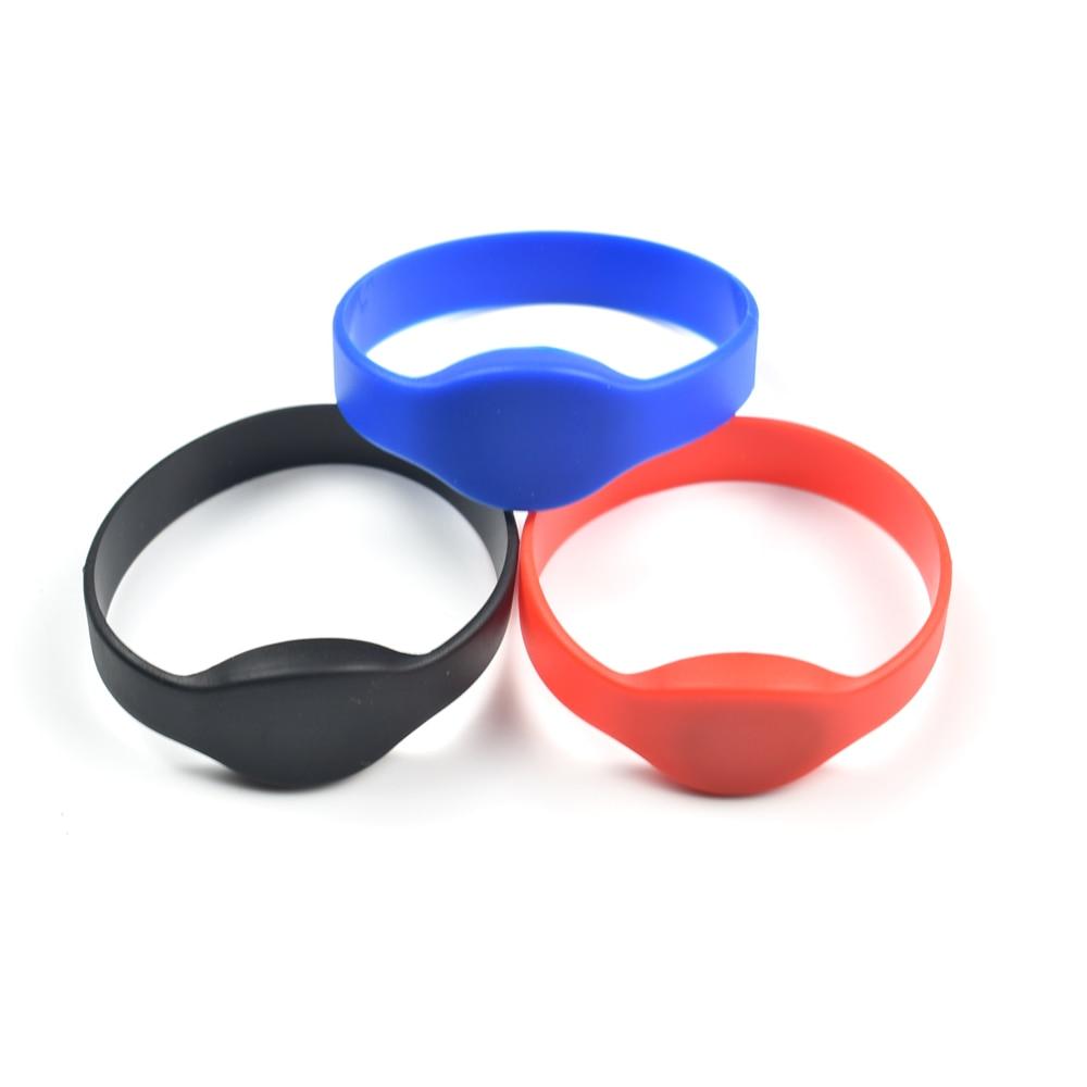 125khz RFID EM4100/TK4100 Wristband Bracelet ID Card Silicone RFID Band Read Only Access Control Card wb03 silicone rfid wristband rfid bracelet proximity smart em card frequency 125khz for access control with tk4100 chip