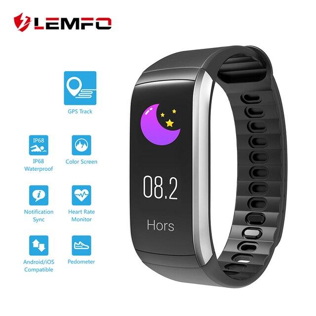 38607b4617c3 LEMFO KR02 pulsera GPS IP67 impermeable Fitness Smart Band Monitor de ritmo  cardíaco actividad Tracker reloj