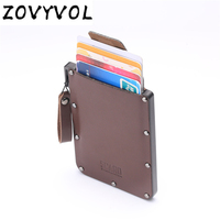 ZOVYVOL Genuine Leather WalletsRfid Ladies Leather Wallets Card Wallets Mini Thin Wallet Purse Small Short Zipper Vallet