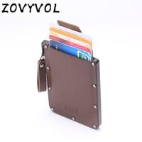ZOVYVOL Genuine Leather WalletsRfid Ladies Leather Wallets Card Wallets Mini Thin Wallet Purse Small Short Zipper Vallet
