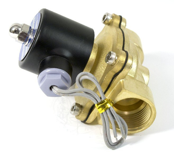 """Пара 1-1/"""" контроль потока воды соленоидный процесс клапан 2W350-35 35 мм пор DC 12 В"""