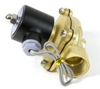 Free Shipping A Pair 1 1/4'' Flow Control Water Solenoid Process Valve 2W350 35 35mm Pore DC 12V
