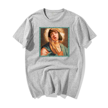 Movie Mia Wallace Pulp Fiction T Shirt Men Fashion Summer Virgin Mary Funny T-shirt Hip Hop Men Printed Top Tee Shirt Cotton cook william wallace the fiction factory